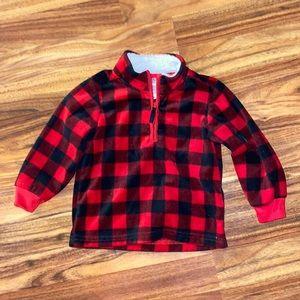 Carter's | 5 for $25 | Fleece Quarter Zip | Buffalo Plaid | Baby | Toddler